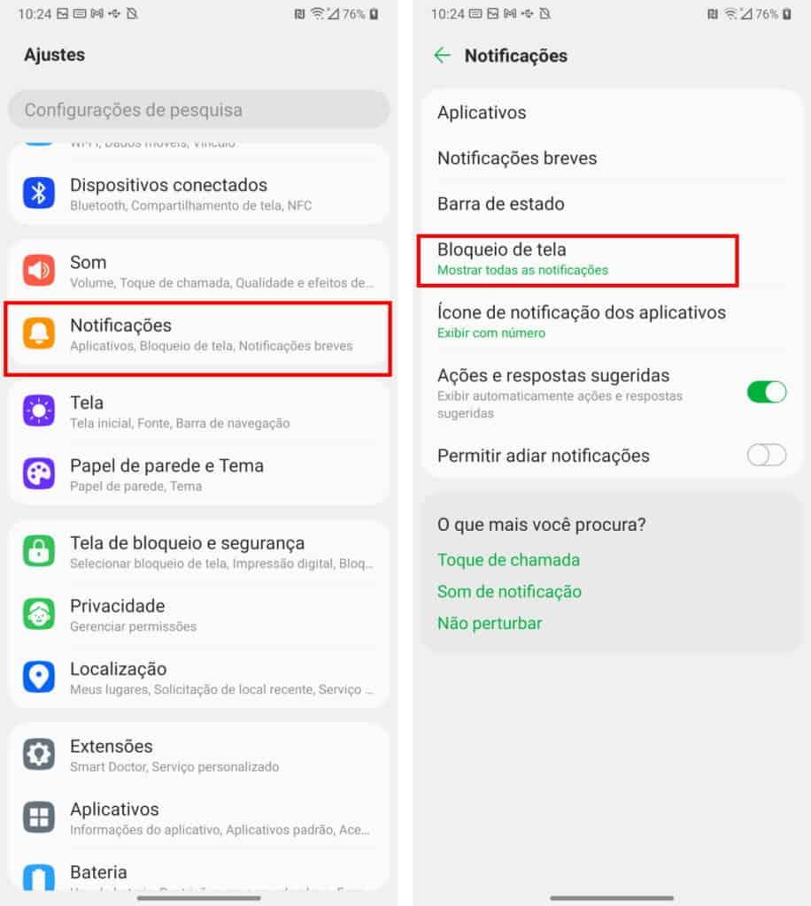 Notificações do Android