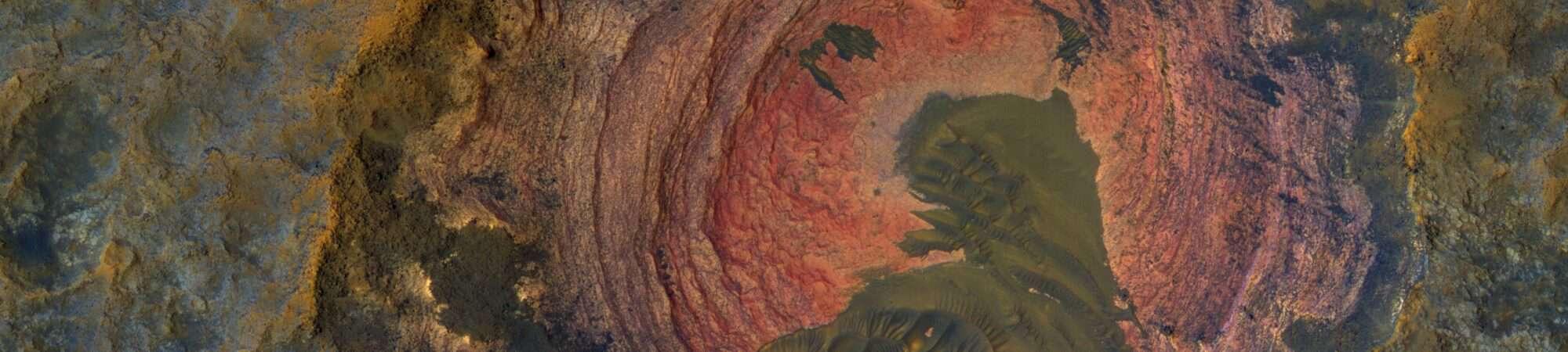 Rocha exposta na superfície de Marte