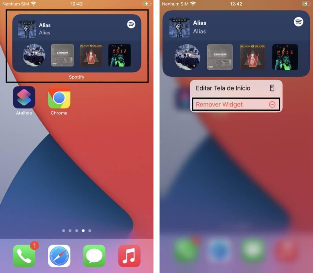 Haga que la batería del iPhone dure más - Quite los widgets