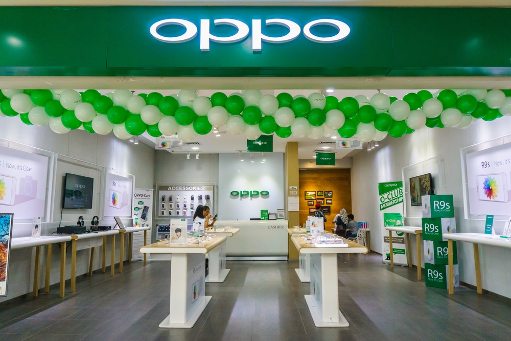 Loja Oppo, marca chinesa de smartphone