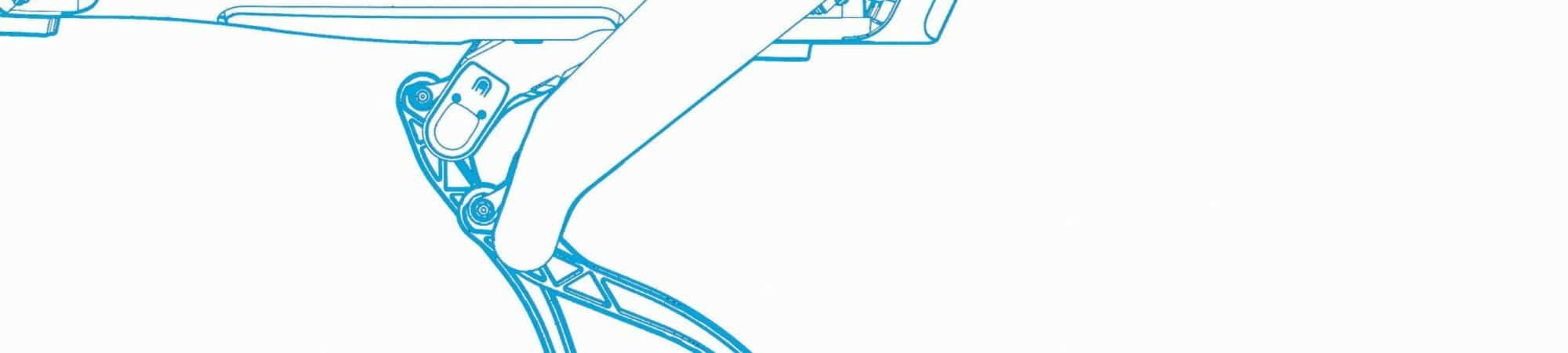 Desenho do cão-robô Spot
