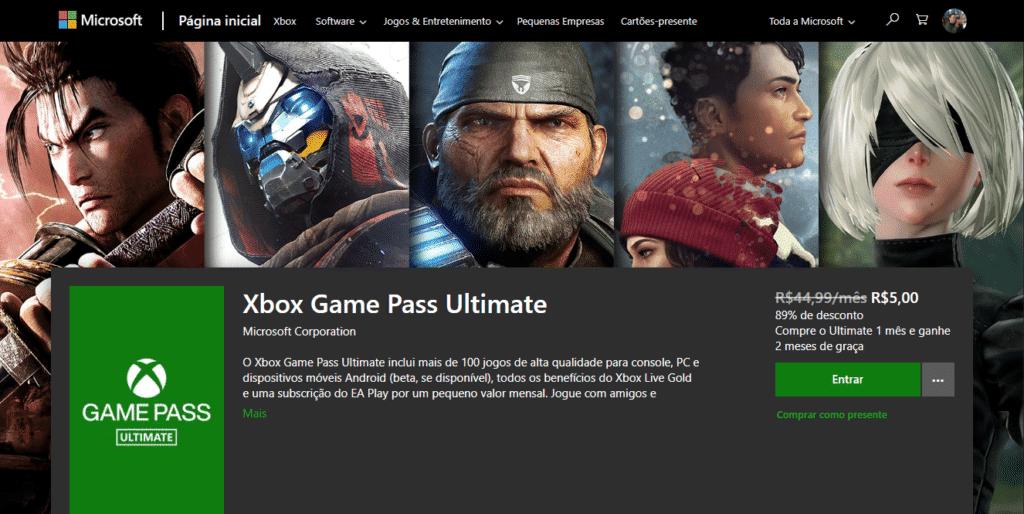 Promoção Game Pass Ultimate