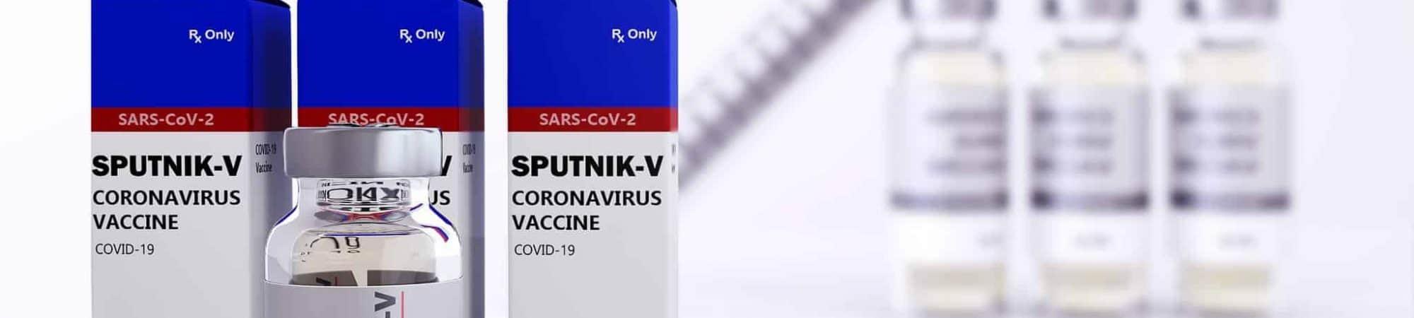 ampolas com a vacina sputnik