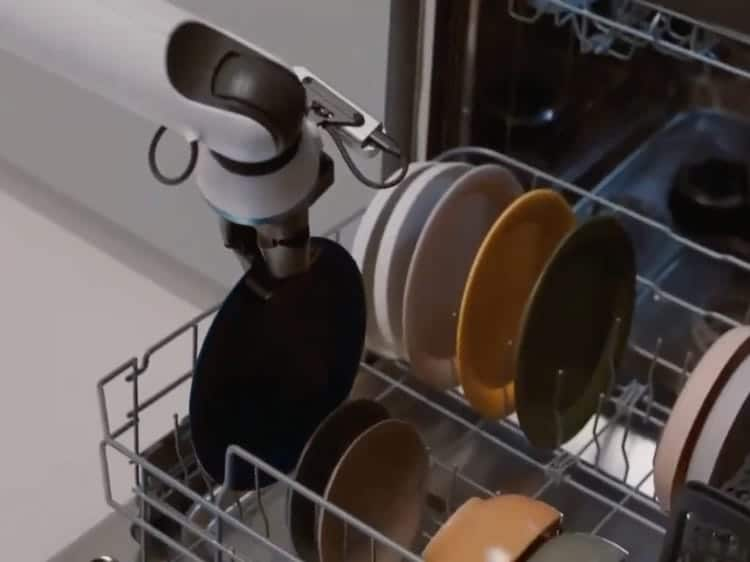 Samsung robot does varied household chores and can still serve wine to the resident at the end of the day