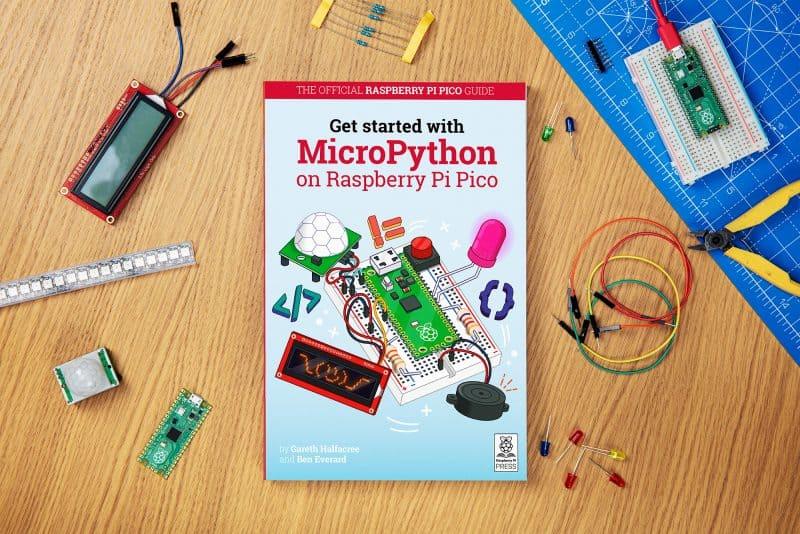 imagem do livro gratuito que ensina a montar o novo Raspberry Pi Pico
