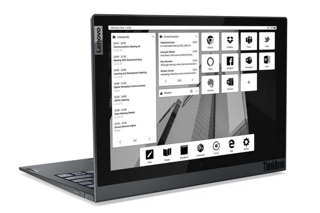 Lenovo Thinkbook Plus Gen 2 has full screen on the cover