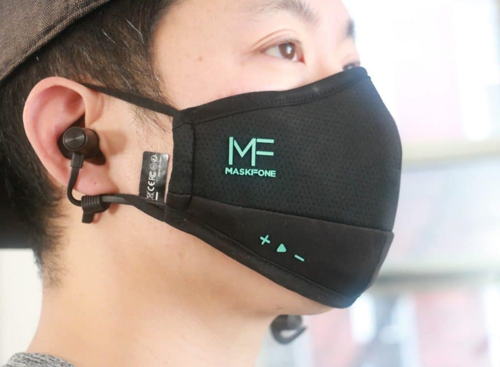 Mask, headset and microphone in one accessory