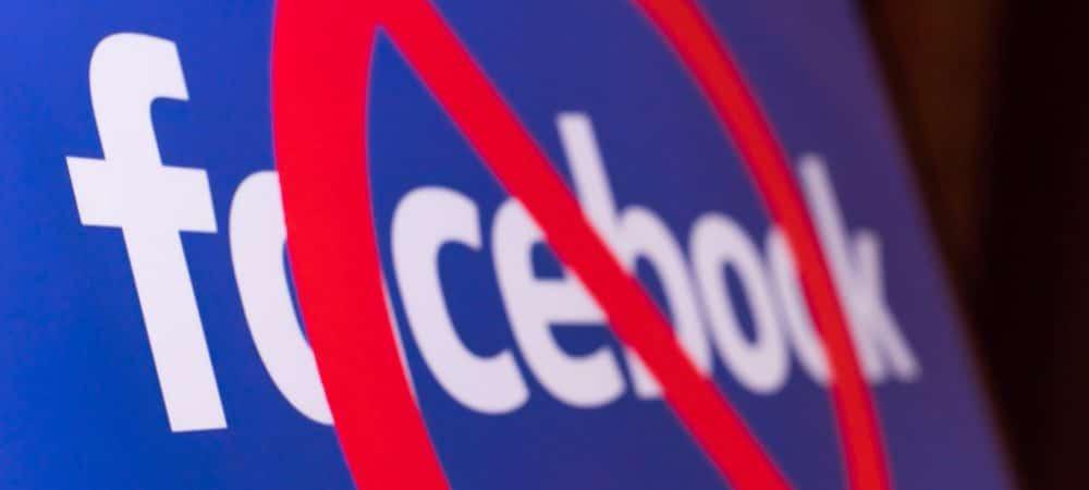 Símbolo de proibido no logo do Facebook