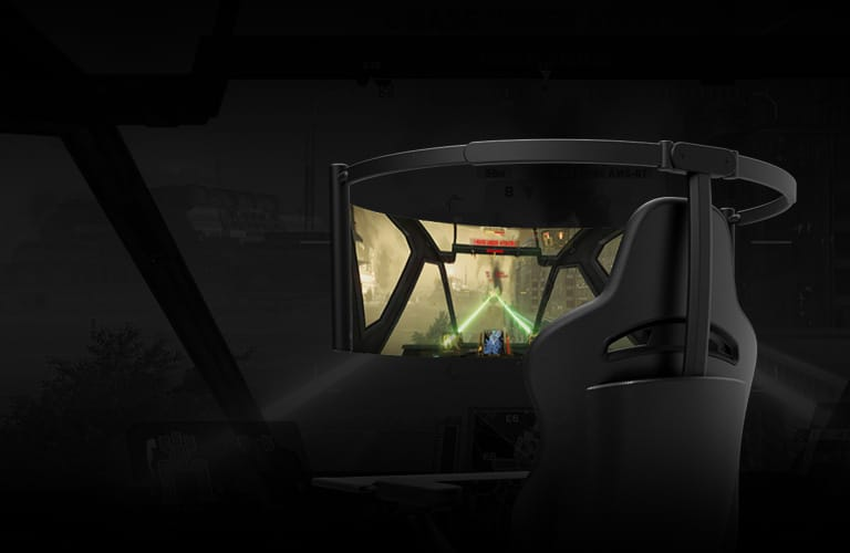 Razer gaming chair has a 60-inch curved screen