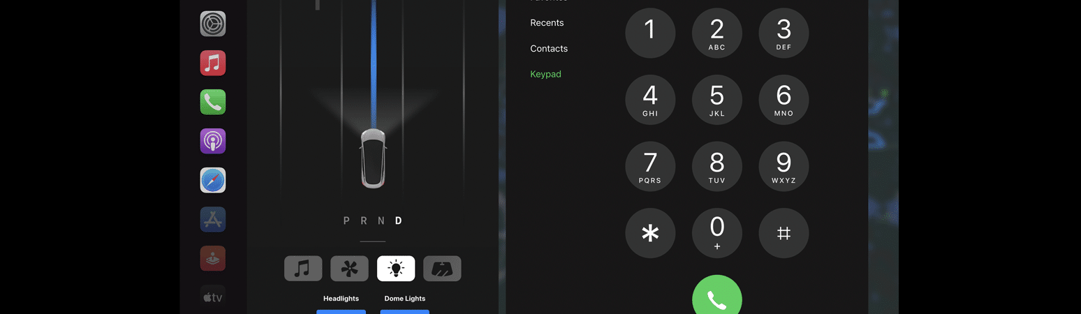 Conceito mostra Apple CarPlay rodando em tela do Tesla Model 3