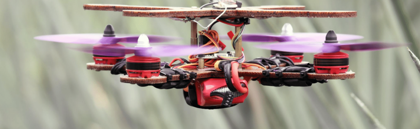 Drone made from pineapple fibers