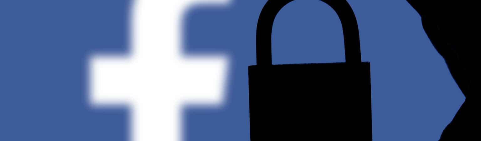 facebook e cadeado