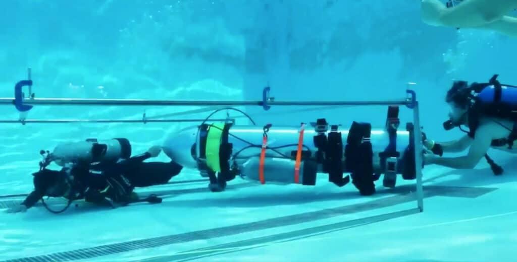 Submarino propuesto por Elon Musk para ayudar a rescatar a niños en Tailandia.