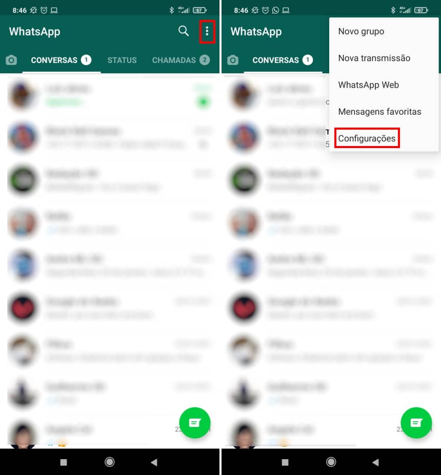 """How to hide """"typing"""" status on WhatsApp - Step 1"""