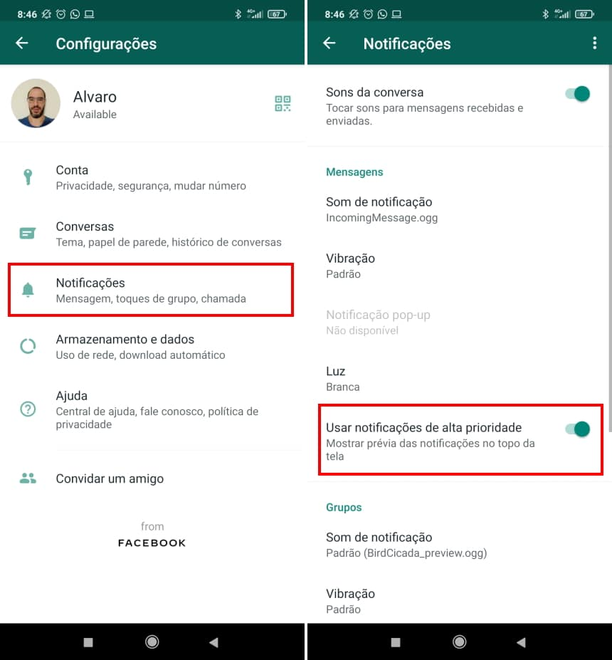 """How to hide """"typing"""" status on WhatsApp - Step 2"""