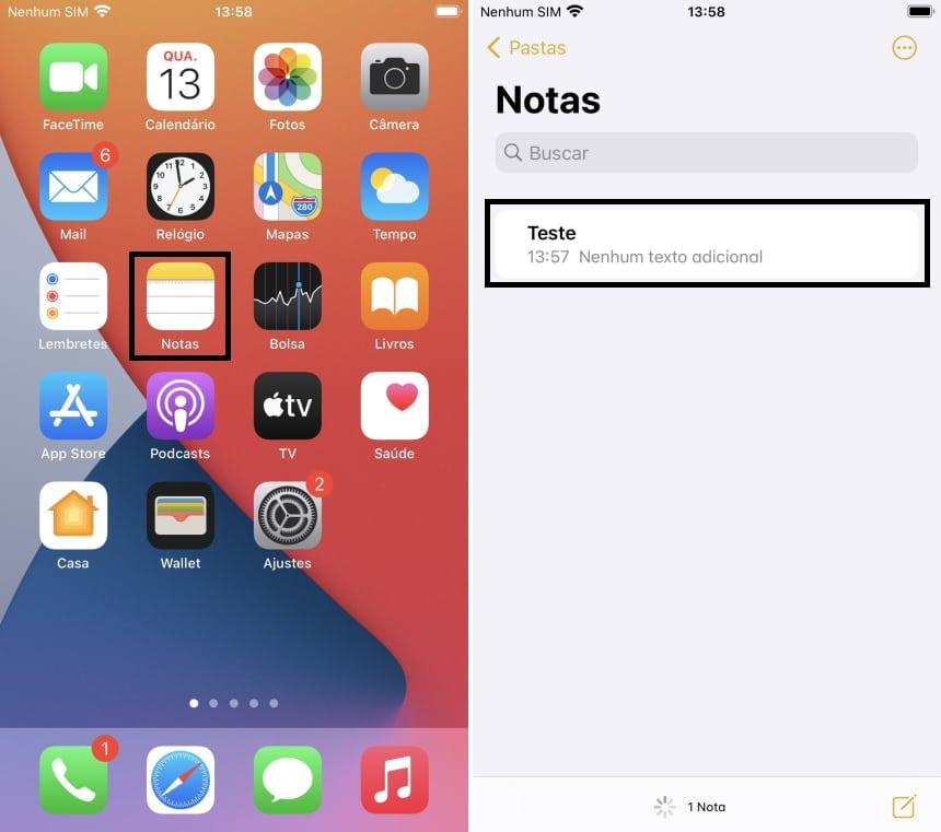 Como proteger notas com senha no iOS - Passo 3