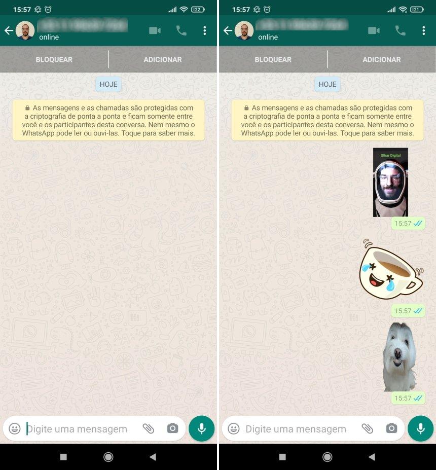 Como fazer uma cópia de segurança das figurinhas do WhatsApp - Passo 3
