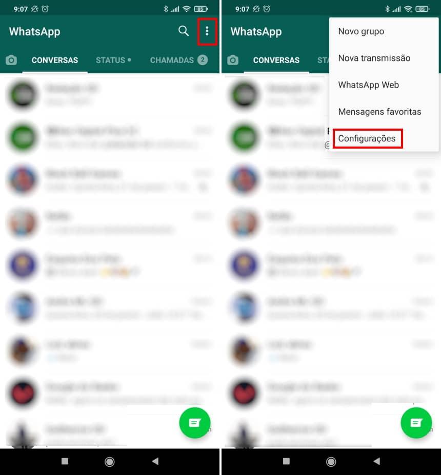 Como recuperar conversas apagadas do WhatsApp no Android - Passo 7