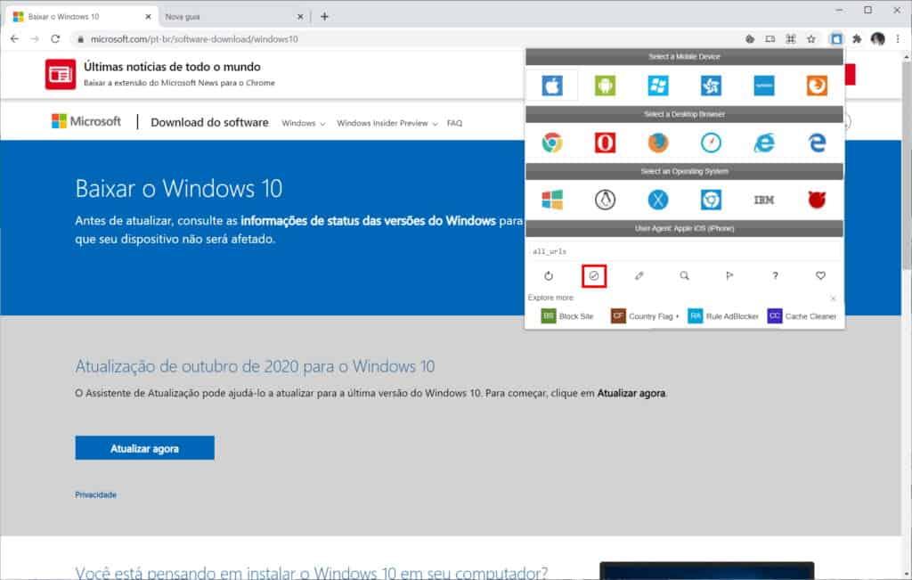 Como baixar a ISO do Windows 10 do site da Microsoft - Passo 9