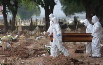 Covid-19: Brasil tiene más de 2,9 muertes en las últimas 24 horas; total supera los 371 mil