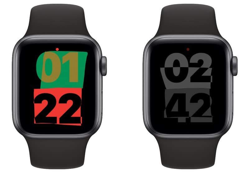 two models of the new watchos 7.3