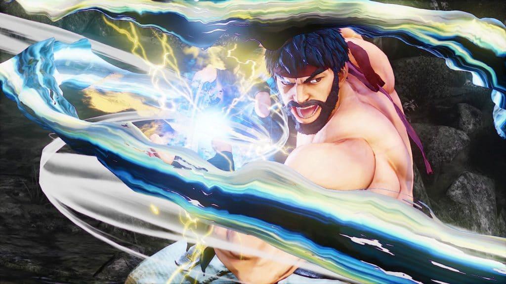 """O jogo """"Fortnite"""" pode receber a participação especial de Ryu, de """"Street Fighter"""". Na imagem, Ryu se prepara para disparar o seu golpe principal, o """"hadouken""""."""