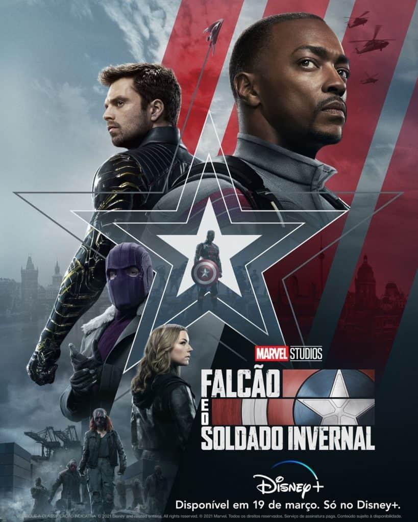 Marvel divulga novo pôster de Falcão e Soldado Invernal, série do Disney+