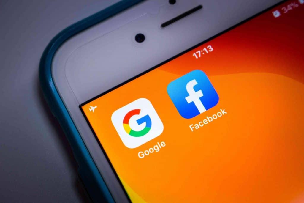 Apps do Google e Facebook