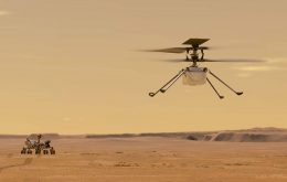Historic flight: Ingenuity helicopter begins to land on Mars