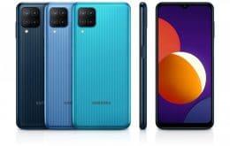Com design inspirado no A12, Samsung lança novo Galaxy M12, com câmera de 48MP e bateria de 6.000 mAh