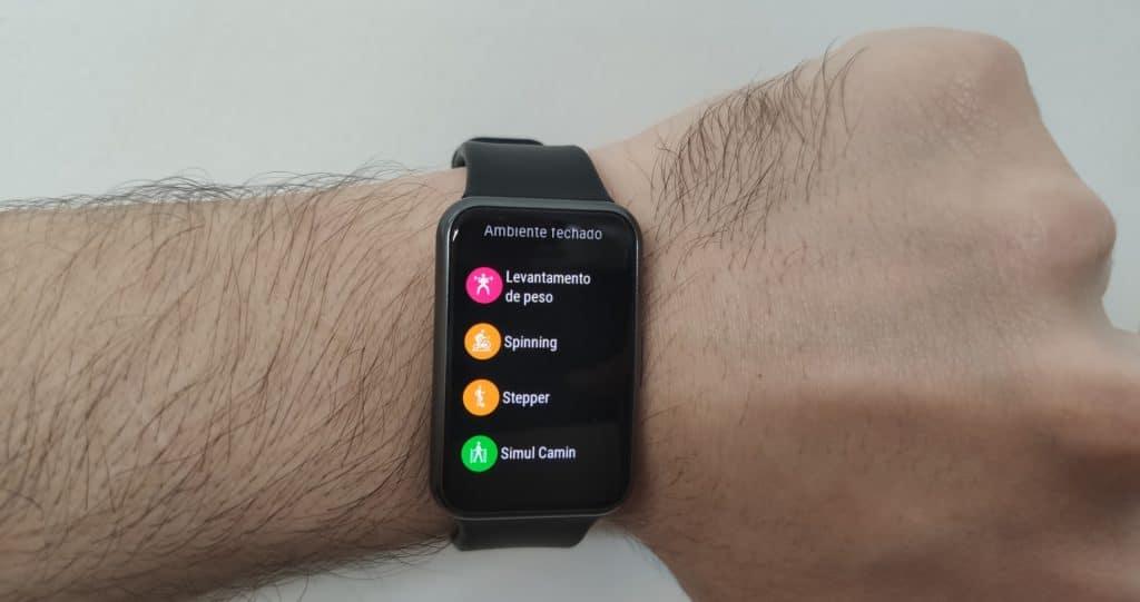 Huawei Watch Fit - Alguns tipo de treino