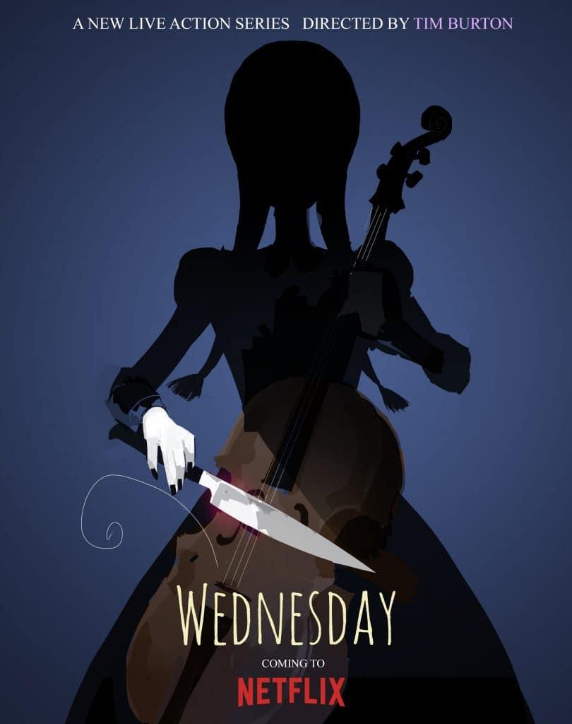 """Cartaz de """"Wednesday"""", a série protagonizada pela Wandinha Addams e produzida pela Netflix. Imagem: Netflix/Divulgação"""