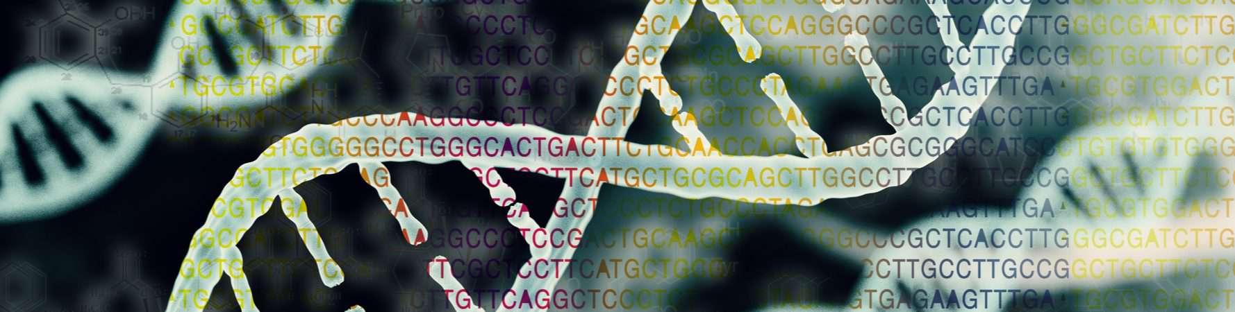 Cadeias de DNA sendo sequenciadas