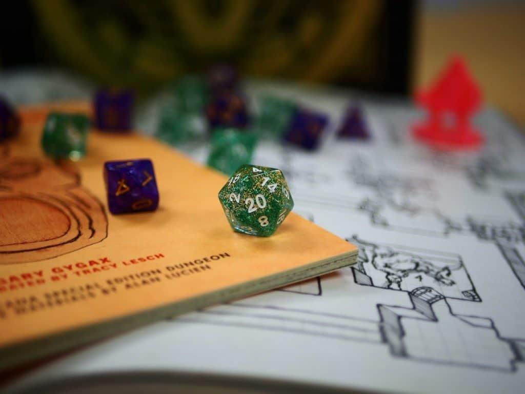 tabuleiro de Dungeons & Dragons