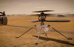 Equipe adia 14º voo do Ingenuity em Marte por anomalia no helicóptero