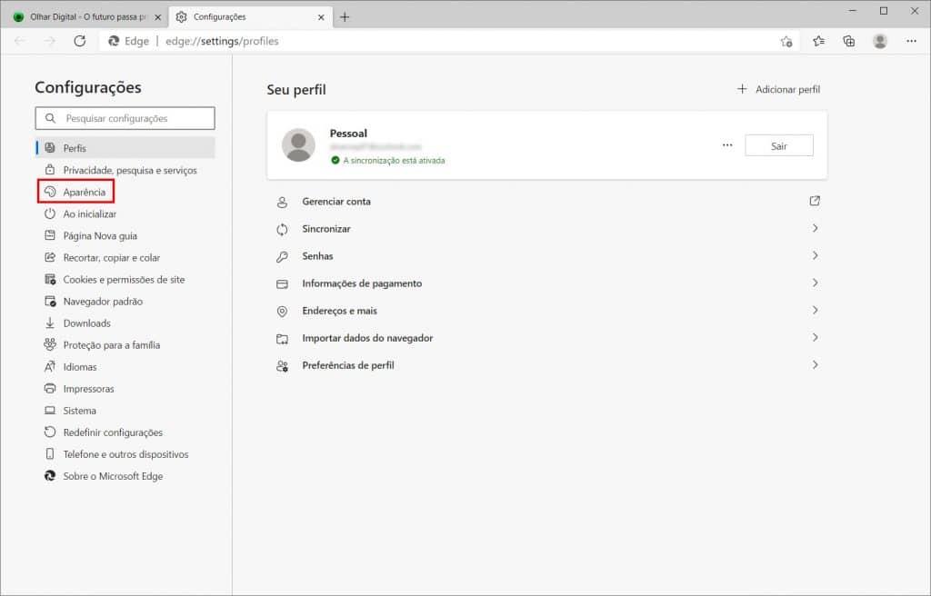Como instalar um tema do Chrome no Microsoft Edge - Passo 3