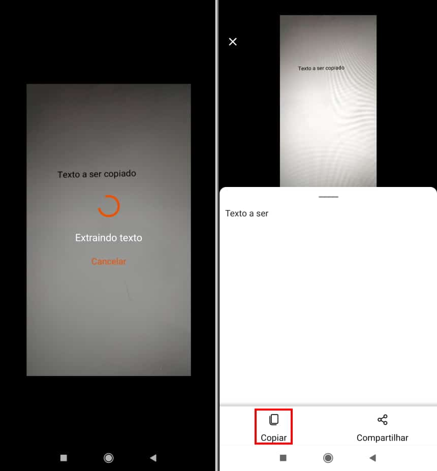 Como copiar textos com a câmera do celular usando o Microsoft Office Lens - Passo 6