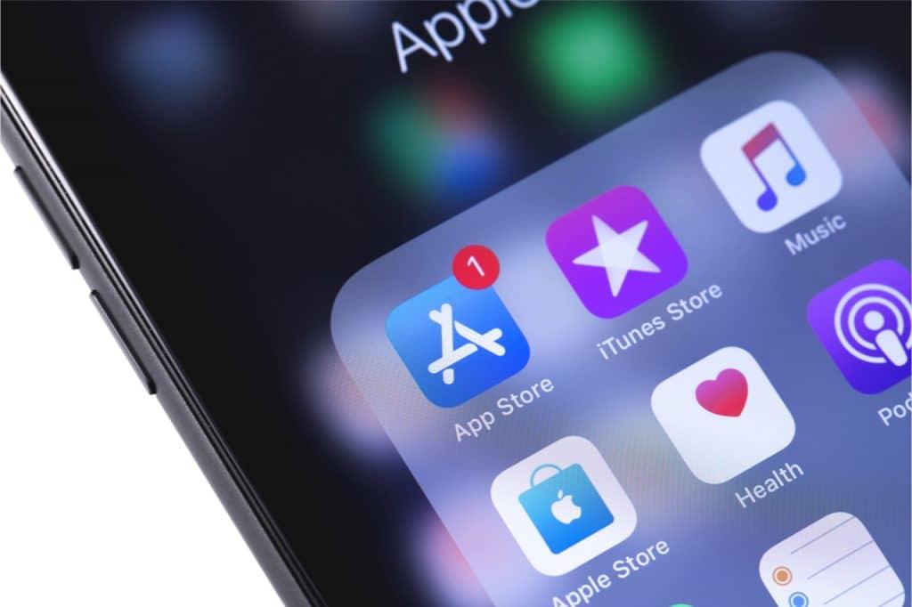 Imagem mostrando o logotipo da AppStore, que se viu envolvida em um projeto de lei contra a Apple