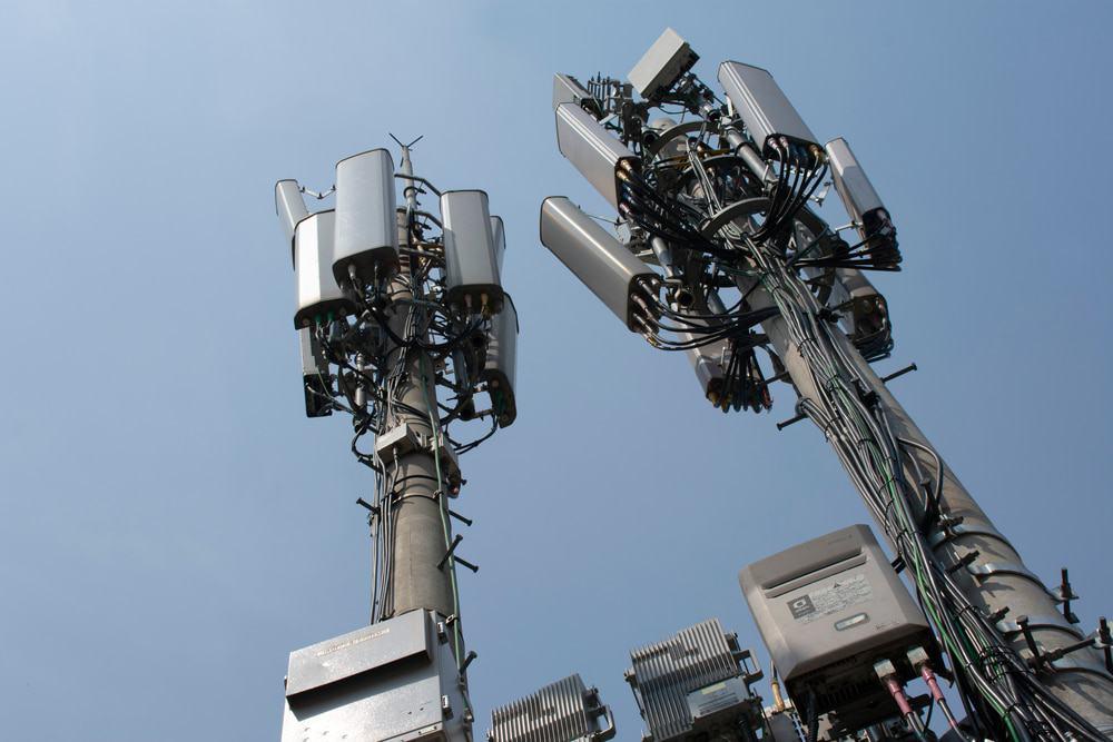 Torre de telecomunicaciones de celular 4G y 5G.