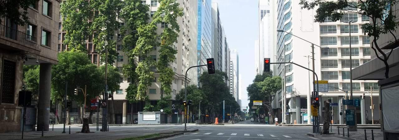 Rio de Janeiro sem circulação de pessoas por conta da Covid-19
