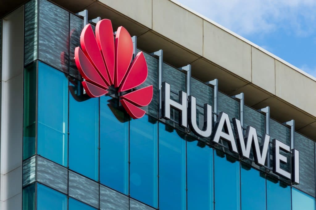 Fachada da empresa Huawei, da China
