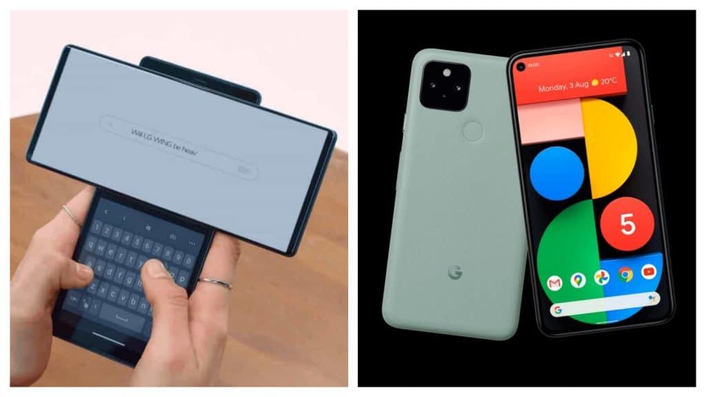LG Wing e Google Pixel 5