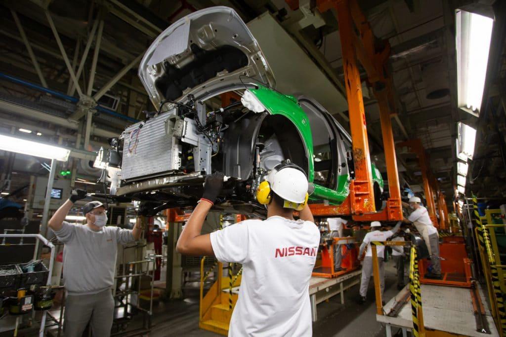 Nissan production line in Resende (RJ). Image: Cris Oliveira / Disclosure