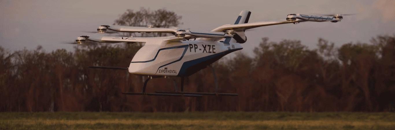 Embraer revela táxi voador desenvolvido no Brasil. Imagem: Reprodução
