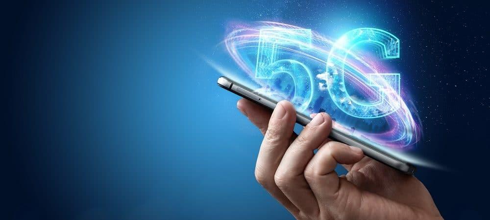 Ilustração de um smartphone 5G