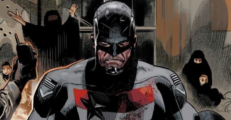 Após ser o Capitão América, John Walker assume a identidade do Agente Americano. Imagem: Marvel Comics/Reprodução