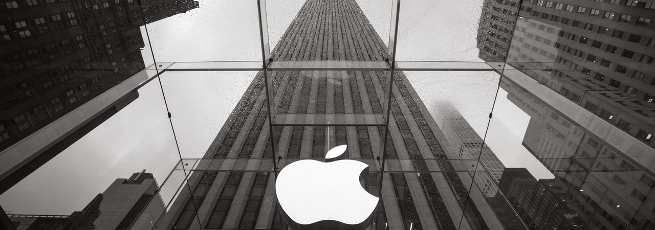 Fachada da empresa Apple