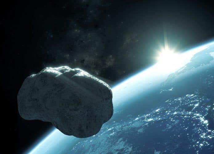 Ilustración del asteroide que pasa por la Tierra