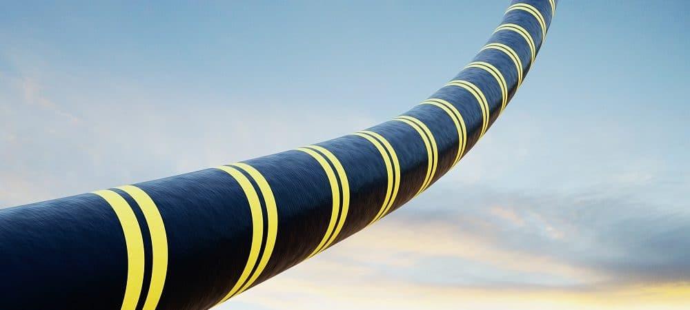 Ilustração de cabo submarino