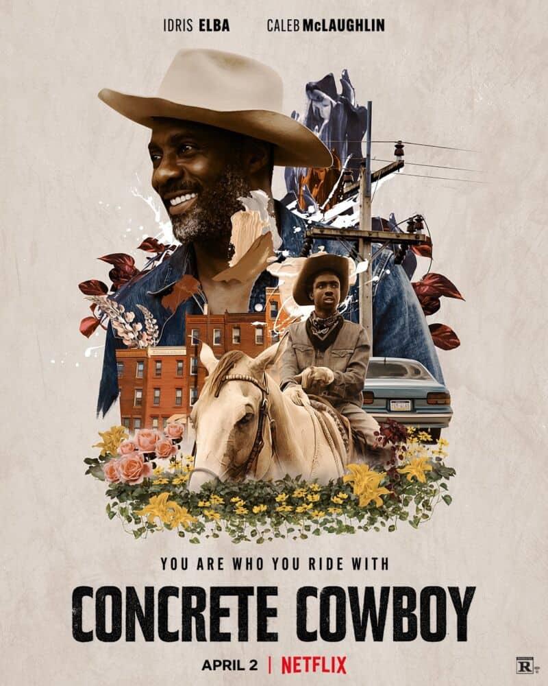 Cartaz promocional de 'Concrete Cowboy' ('Alma de Cowboy', no Brasil), novo filme da Netflix. Imagem: Netflix/Divulgação